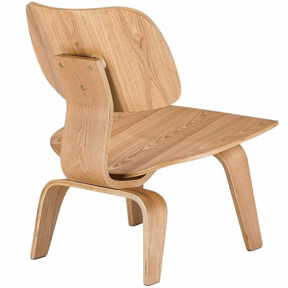 Marc Kandel Mid Century Molded Plywood Lounge Chair / Natural Chair