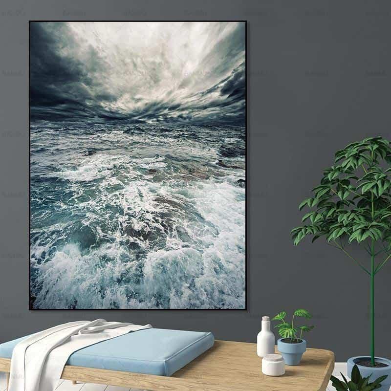 Walter | Perfect Sea Waves | Unframed Canvas Art