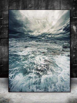 Walter   Perfect Sea Waves   Unframed Canvas Art