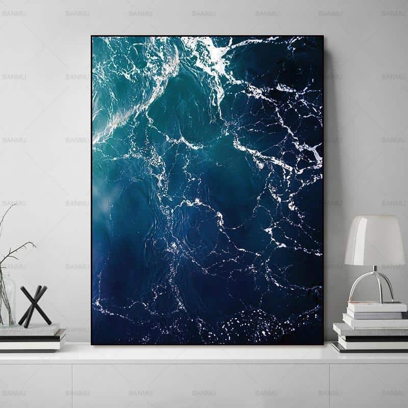 Walter | Perfect Sea Waves | Unframed Canvas Art unique and elegant Canvas print - Wall Art