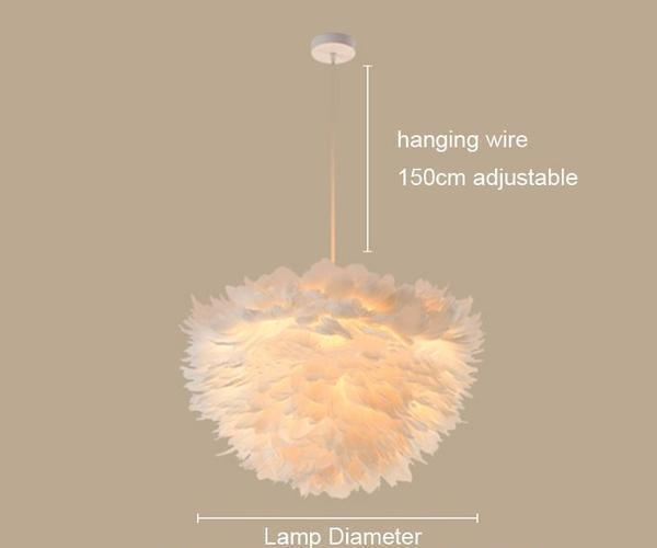 Sun and Cloud Feather Pendant Lamp Pendant lighting