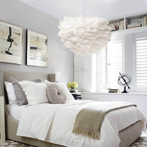 Sun and Cloud Feather Pendant Lamp Pendant lighting