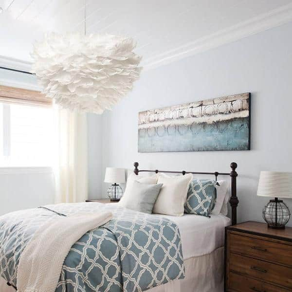 Sun and Cloud Feather Pendant Lamp