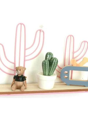 Nordic Lilly-May | Metal Wire Cactus And Cloud | Rack