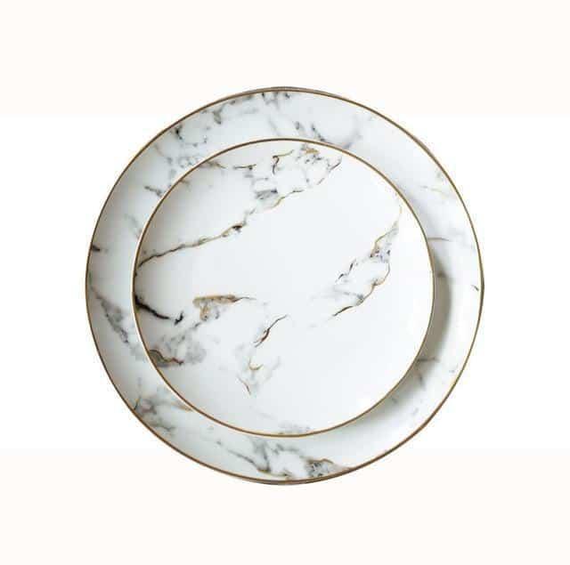 Rebecca Marble Plate 2pcs/set Plates Default Title