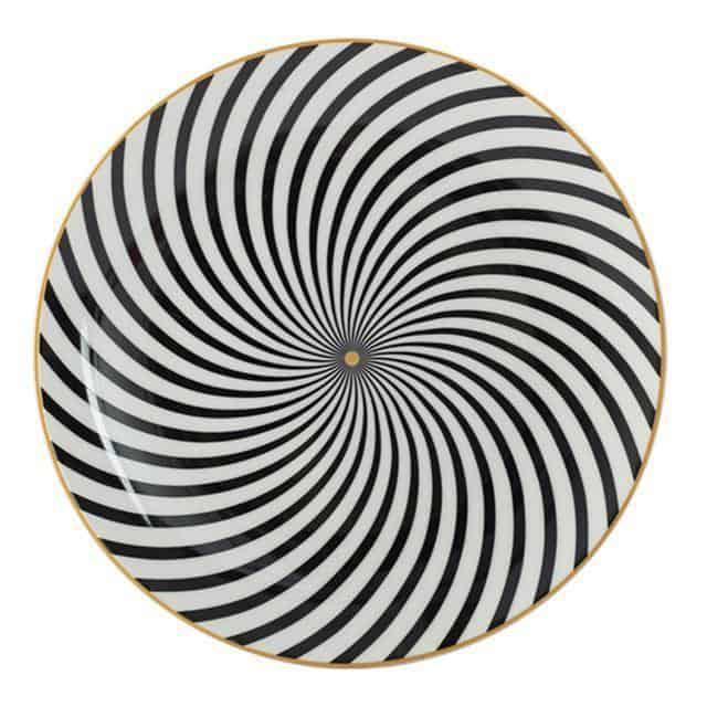 Geometry by Celiné Plates Calming by Celiné / 8 inch / 6 pcs