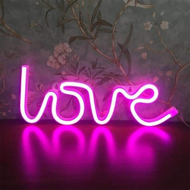 Superstar Neon F7 Table/Wall Lamp Table/Wall lamp Love pink