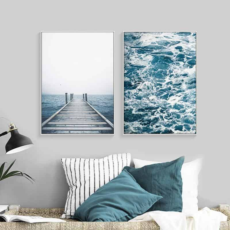 Fantastic Open Sea | Unframed Canvas Art