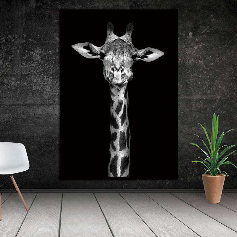 Giraffe Is Looking At Me! Canvas print - Wall Art