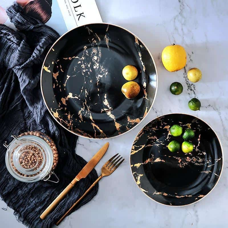 West Point | Marble Ceramic Dinnerware Set
