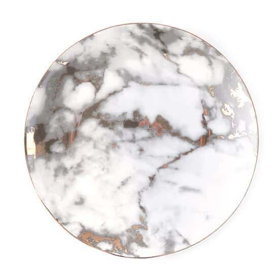 West Point by Celiné Plate unique and elegant Plates Prefect marble / 10 inches