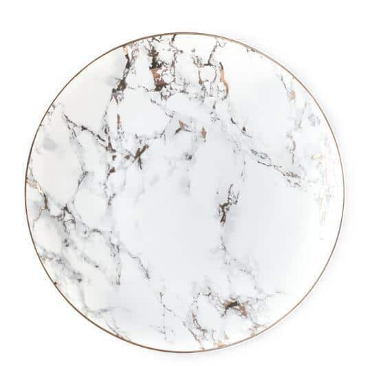 West Point by Celiné Plate unique and elegant Plates Light marble / 10 inches