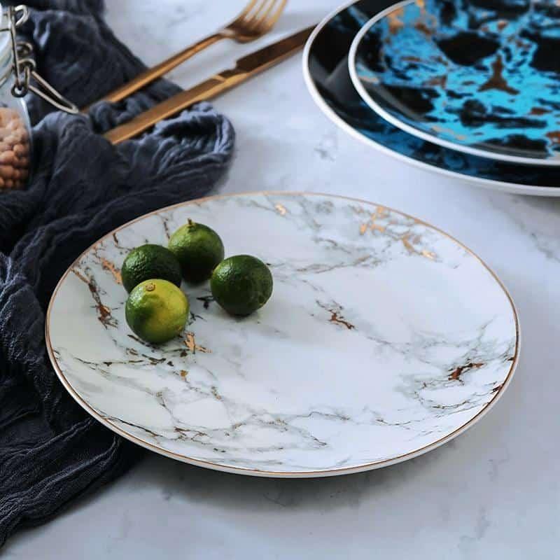 West Point | Marble Ceramic Dinnerware Set
