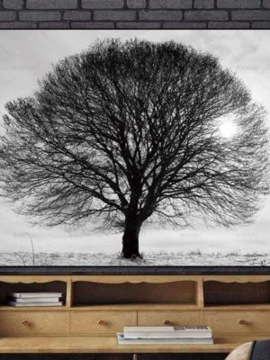 One And Very Big Tree | Unframed Canvas Art