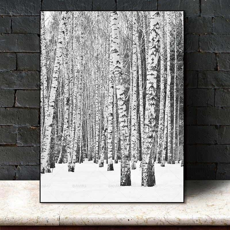 Deep Winter Forest Inspirational | Unframed Canvas Art unique and elegant Canvas print - Wall Art 60X90cm