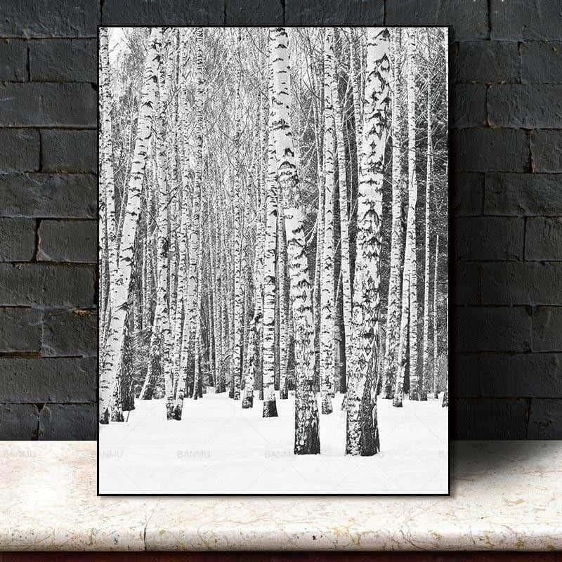Deep Winter Forest Inspirational | Unframed Canvas Art unique and elegant Canvas print - Wall Art 60X90cm