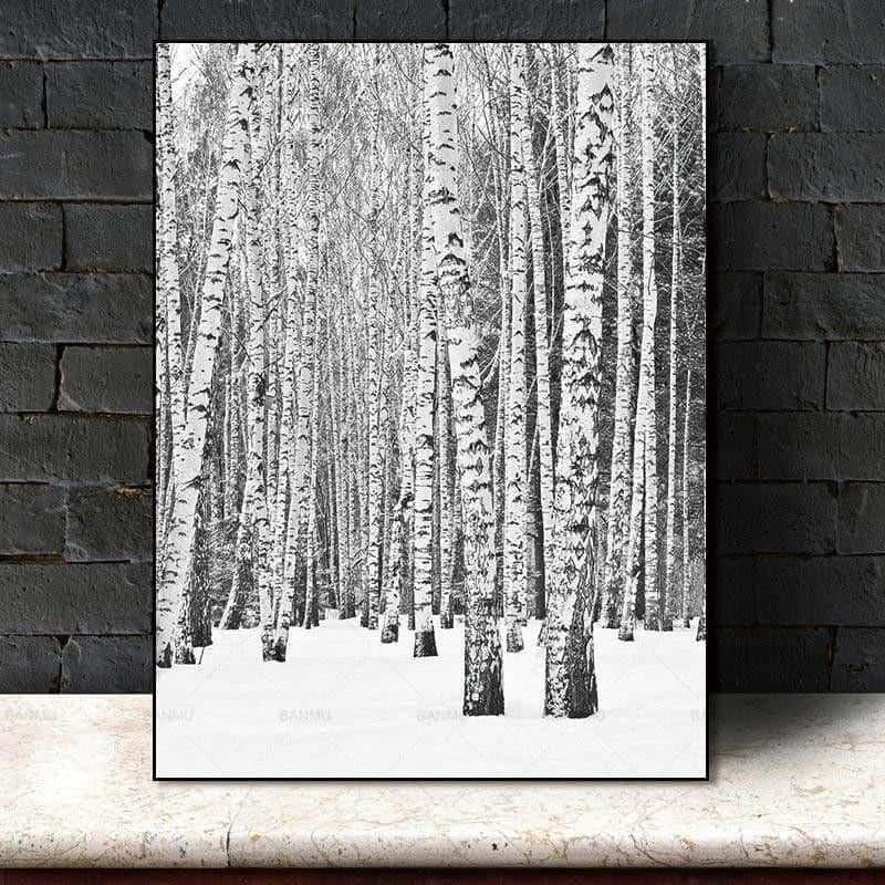 Deep Winter Forest Inspirational | Unframed Canvas Art