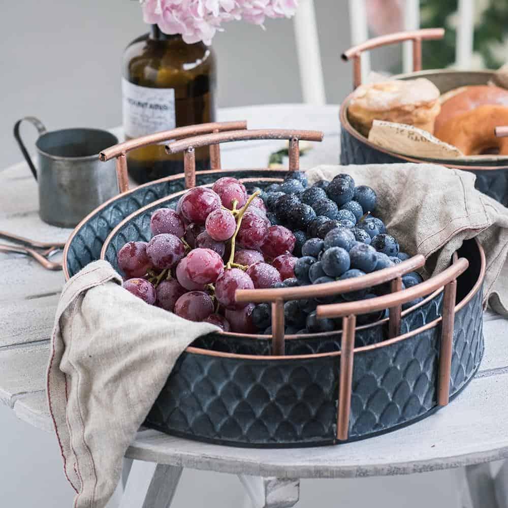 Ruby Winters Metal Storage Basket Basket