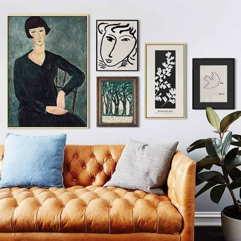 Frida Khalo And Life | Unframed Canvas Art