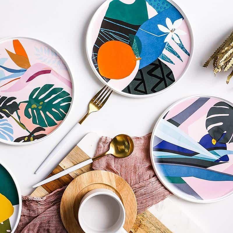 Renard Adorable Abstract Plate Plates