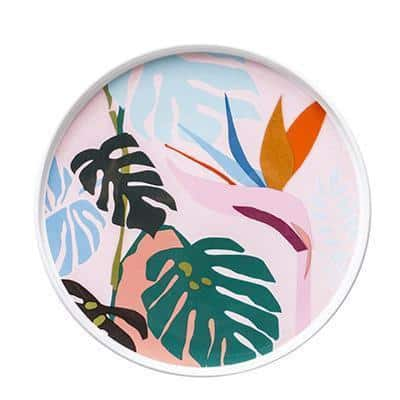 Renard Adorable Abstract Plate Plates Leafs