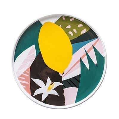 Renard Adorable Abstract Plate Plates Lemon