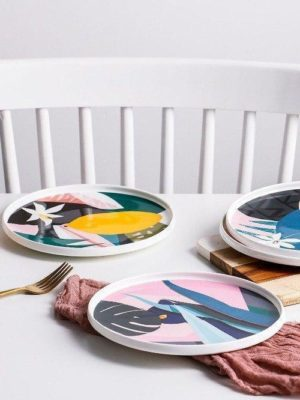 Renard | Colorful Abstract Plate | Dinnerware