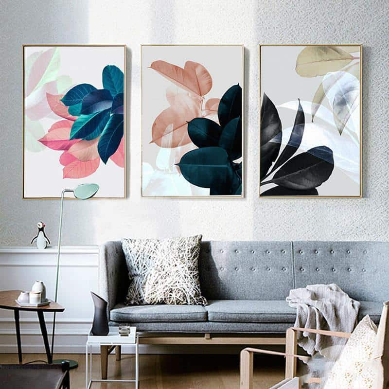 Colorful Flowers & Appeasement | Unframed Canvas Art unique and elegant Canvas print - Wall Art