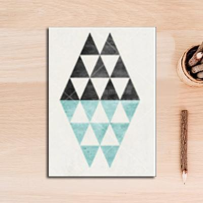 Nordic Essentials Two Canvas print - Wall Art Two tone triangle / 60x90 cm