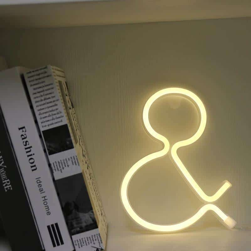 Supernova Alphabet Wall/Desk Light Table/Wall lamp