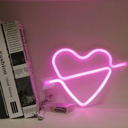 Supernova Alphabet Wall/Desk Light Table/Wall lamp Fall in love - pink
