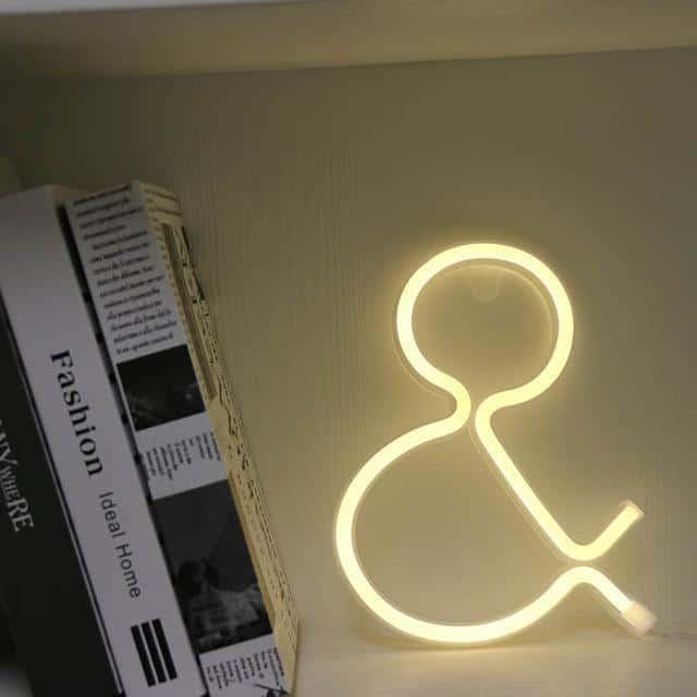 Supernova Alphabet Wall/Desk Light Table/Wall lamp And - warm white