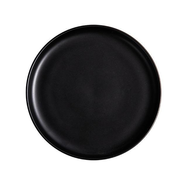 Arcane by Guardian Dinnerware unique and elegant Plates Charocal black / 10 inch
