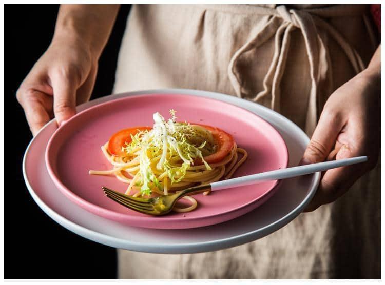 Arcane Pastel Ceramic Dinner Plate