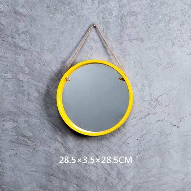 Malik Coloth Pendant Round Mirror Mirror Intensive Yellow