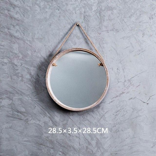 Malik Coloth Pendant Round Mirror Mirror Intesive Gray