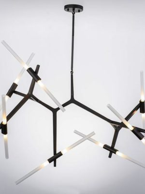 Rotterdam Pipe Glass/Metal Pendant Light