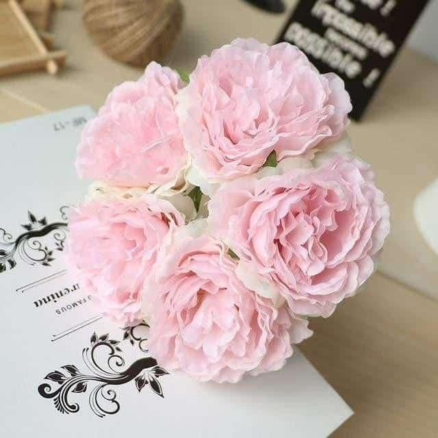 Wedding Poeny by Jasmine Bergmann Artificial Flowers Pink