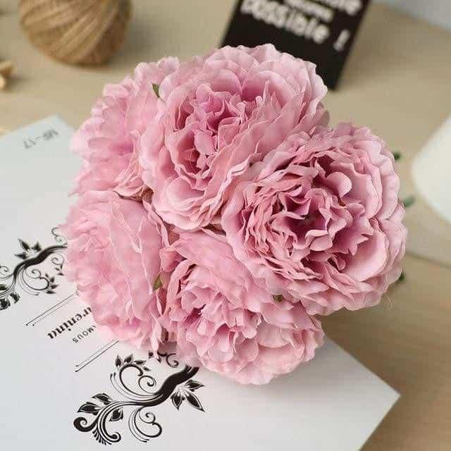 Wedding Poeny by Jasmine Bergmann Artificial Flowers Purple