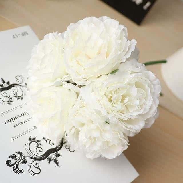 Wedding Poeny by Jasmine Bergmann Artificial Flowers White