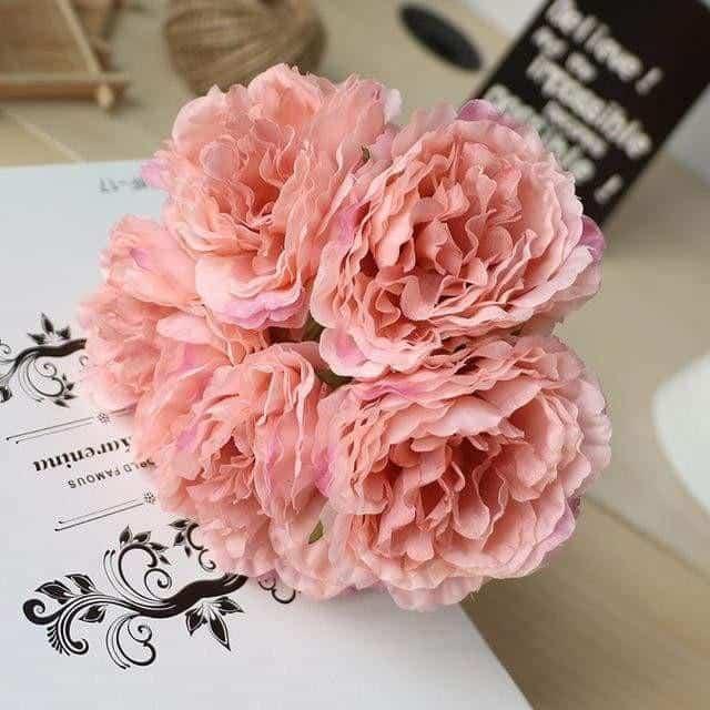 Wedding Poeny by Jasmine Bergmann Artificial Flowers Peach