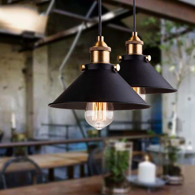 Nordeus Shift Black Metal Pendant Lighting | Vintage & Retro