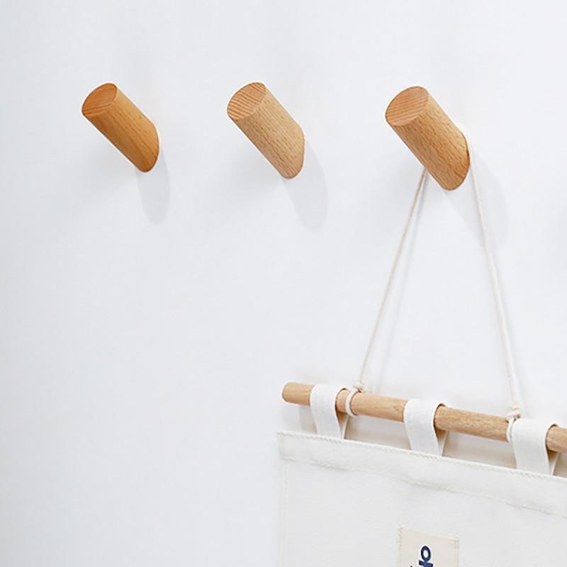 Wood Montgomery Wall Hook / 3pcs unique and elegant Wall hook