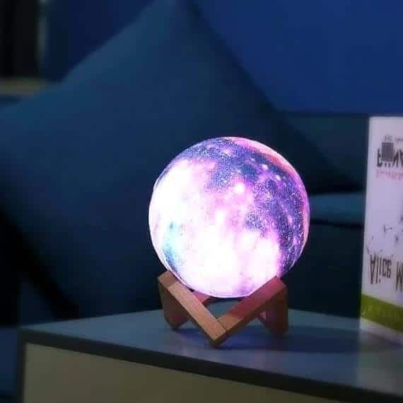 Galaxy & Moon Exhibit Table Lamp / Remote