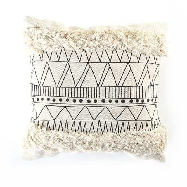 Indiana by Celiné Pillowcase Pillow Black and White 1