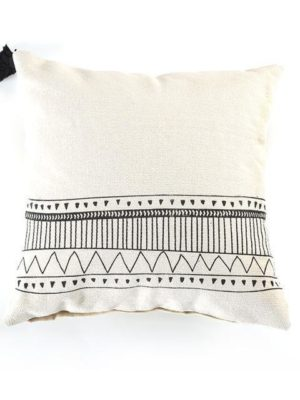 Indian Ivory Bohemian Macrame Handmade Pillowcase