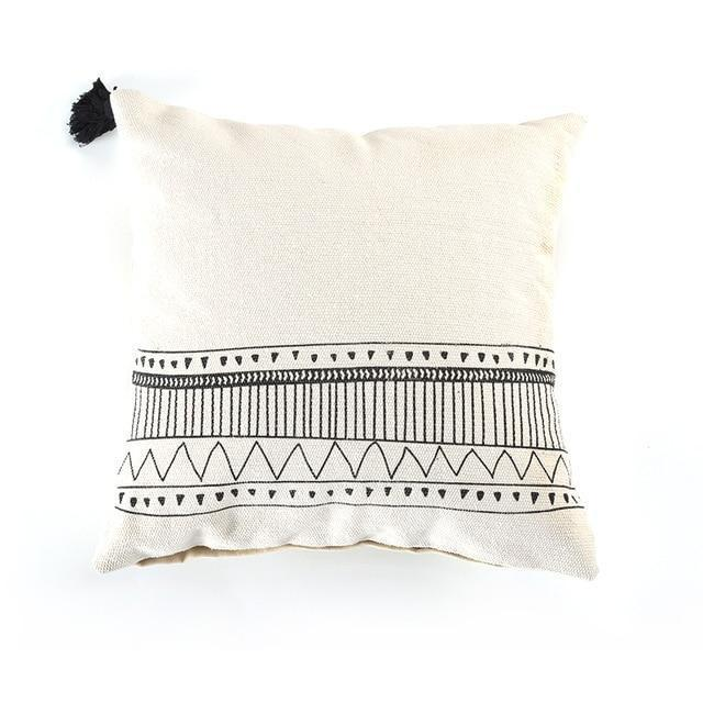 Indiana by Celiné Pillowcase Pillow Black and White 2