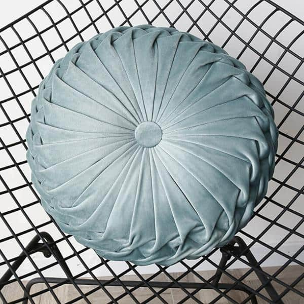 Monroe Peace | Round Velvet Round Throw Pillow | Celiné