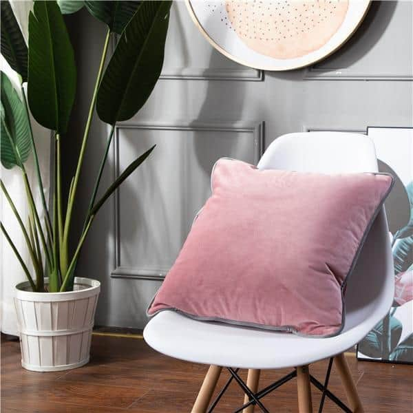 Smooth Style Lux Pillowcase Pillow 60x60cm / Rose