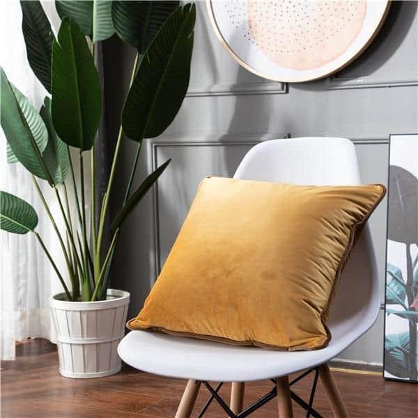 Smooth Style Lux Pillowcase Pillow 60x60cm / Yellow